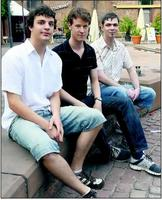 Talentiertes Jungpolitiker-Trio (von links): David Schneider (Jusos), Steffen Funck (JU), Christian Grimm (Julis)