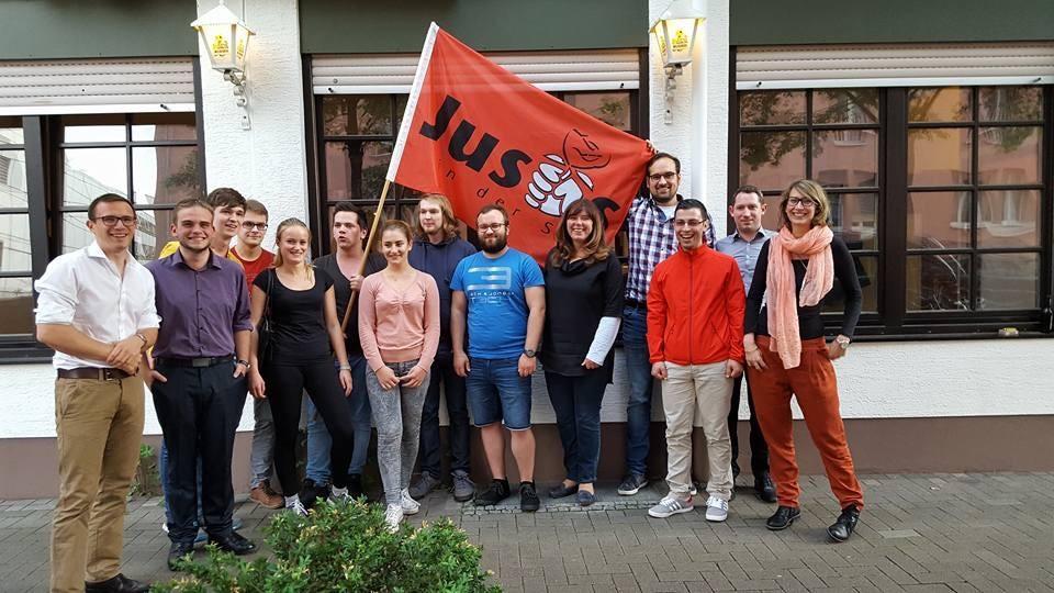 Jutta Steinruck und die Jusos Ludwigshafen